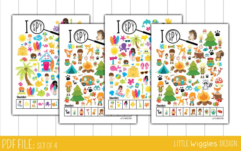 picture relating to Look and Find Printable identified as Ages 6-10 Highway holiday I spy printable