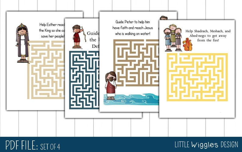 Ages 6 10 Printable Bible Maze And Activity Page Etsy