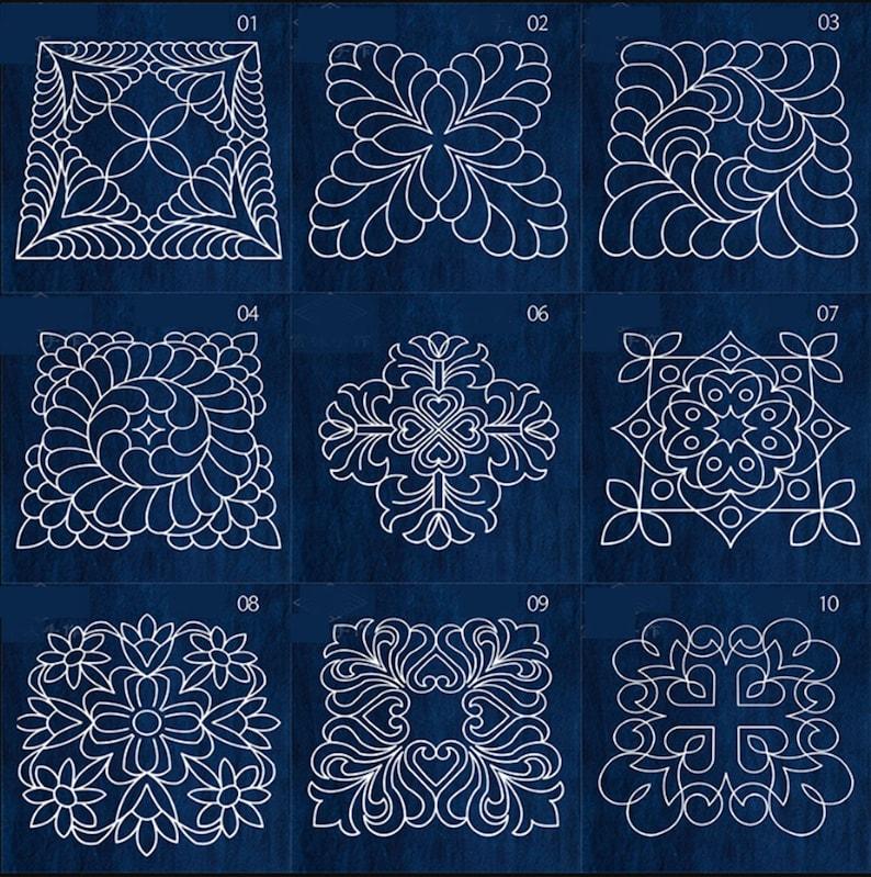 Acrylic Stencil for Sashiko Stencil Quilting Stencil Patchwork Sashiko Embroidery Pattern Traditional style\uff0801-10\uff09