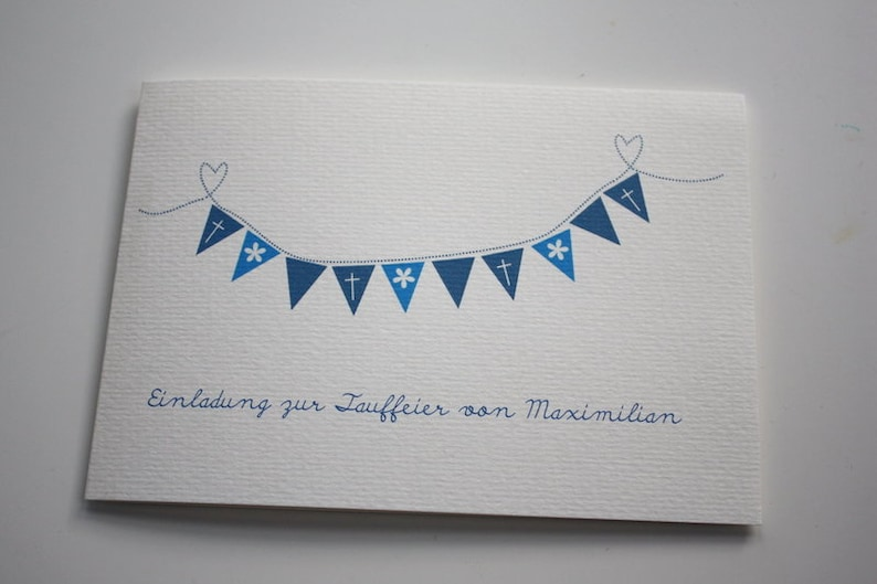 Baptismal Invitation-Wimpelkettchen image 0