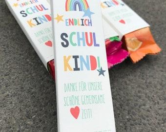 Great kindergarten farewell gift - KAUBONBON. FINALLY SCHOOLCHILD