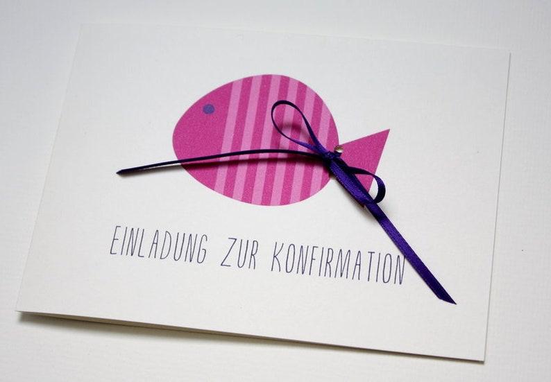 Invitation to Confirmation/communion-Fish image 0