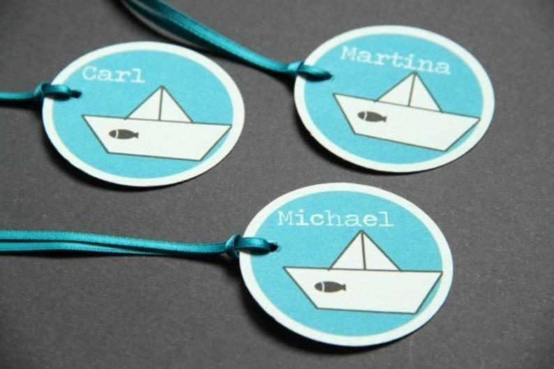 Name Card paper. Boat image 0