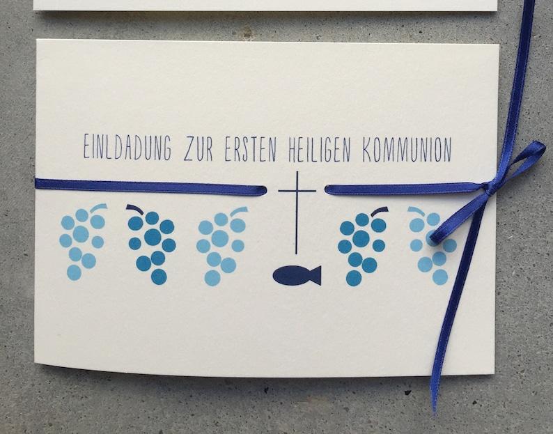 Invitation to Confirmation / Communion  WINE. REBE blue image 0