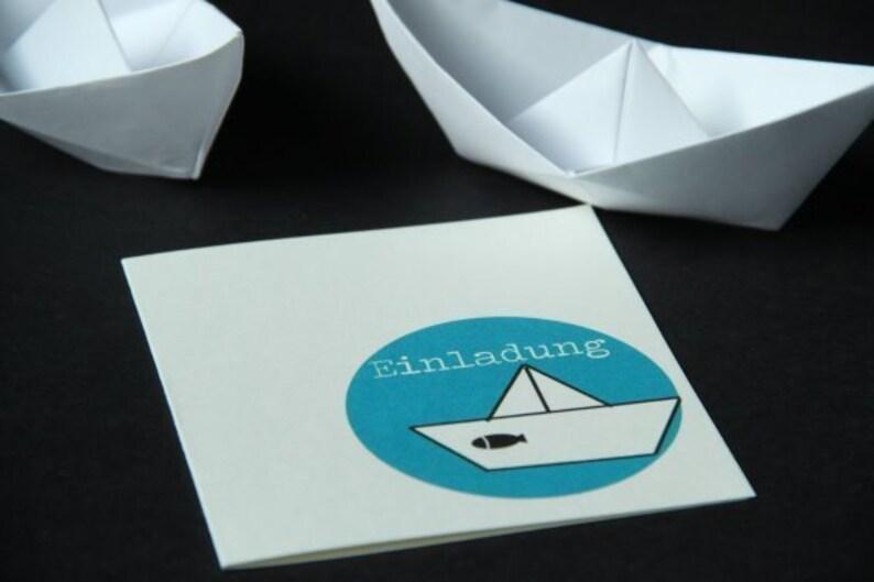 Invitation Confirmation/Communion-PAPIER. Boat image 0