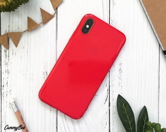 Red phone case | Etsy