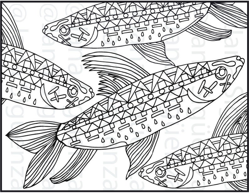 photograph regarding Printable Fishes named Printable Fishes Artwork Colouring. Electronic Colouring webpage.