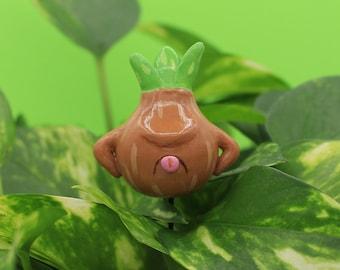 Onion Plant Plug Flower Pot Garden Decor Polymer Clay Animal