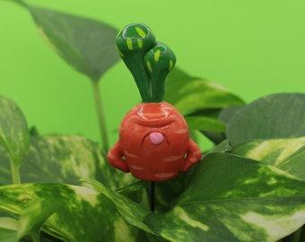 Carrot Plant Plug Flower Pot Garden Decor Polymer Clay Animal