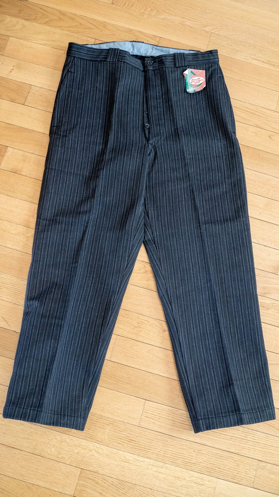 1950s NOS French workwear striped pants DEADSTOCK… - image 3