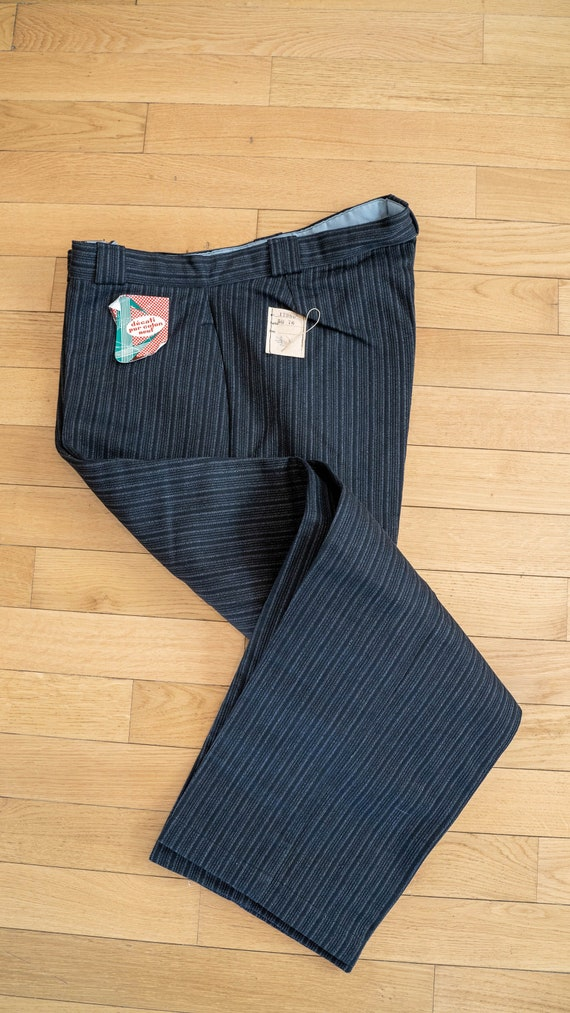 1950s NOS French workwear striped pants DEADSTOCK… - image 1