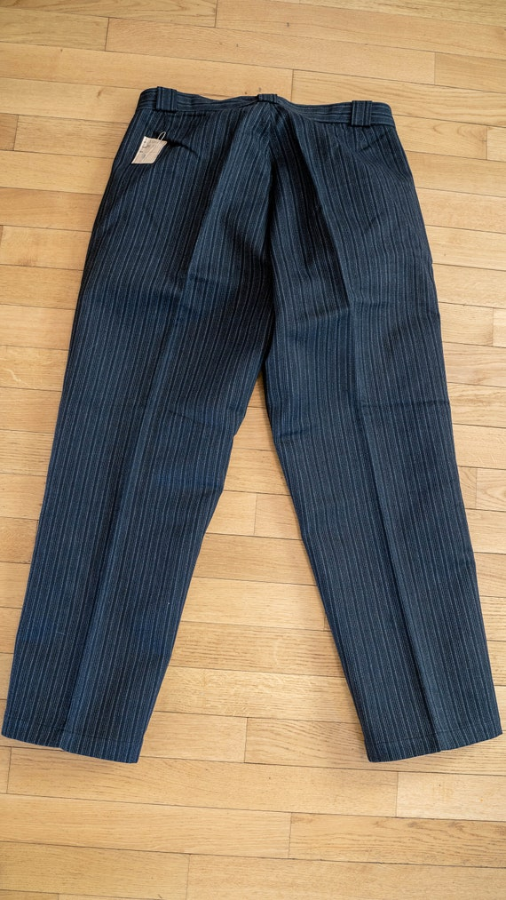 1950s NOS French workwear striped pants DEADSTOCK… - image 4