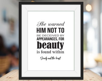 Beauty Beast Quote Etsy