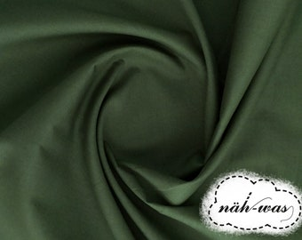 Uni cotton fabric * forest green