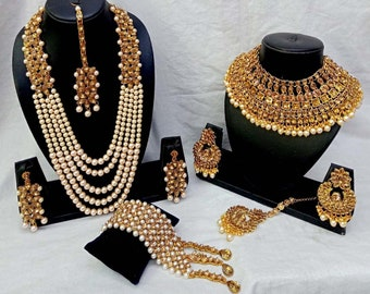 New Indian Bollywood Gold Plated Multi Colour Pearl Beads Earring Party Jewelry Jewelry & Watches