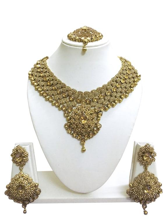 Indian Bridal Wedding Designer Gold Plated Fashion Jewelry Etsy