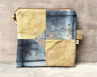 Bag plant dyed unique ecodye zippered poise patchwork natural colors