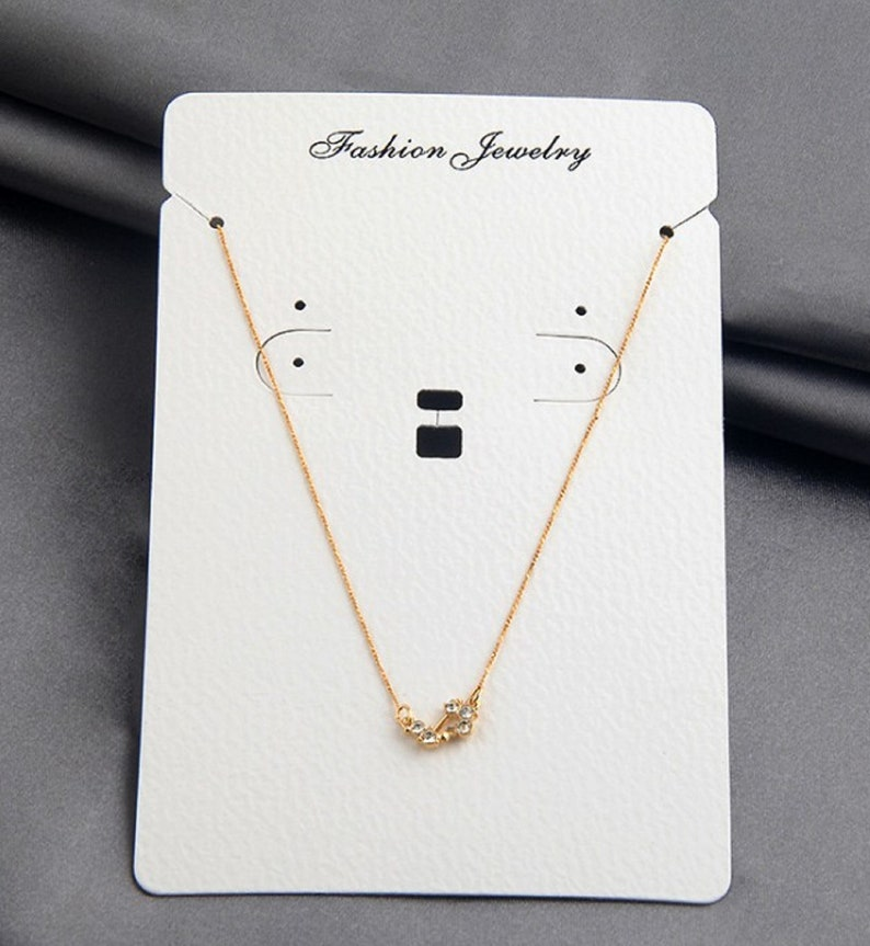 Jewelry set card Jewelry Display Cards necklace holder white display card jewelry packaging 100 Necklace sets Cards earring card
