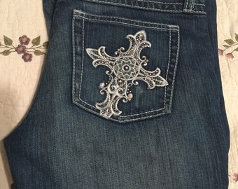 42b7ea5e043 Ladies Wrangler rock 47 size 5 boot cut jeans