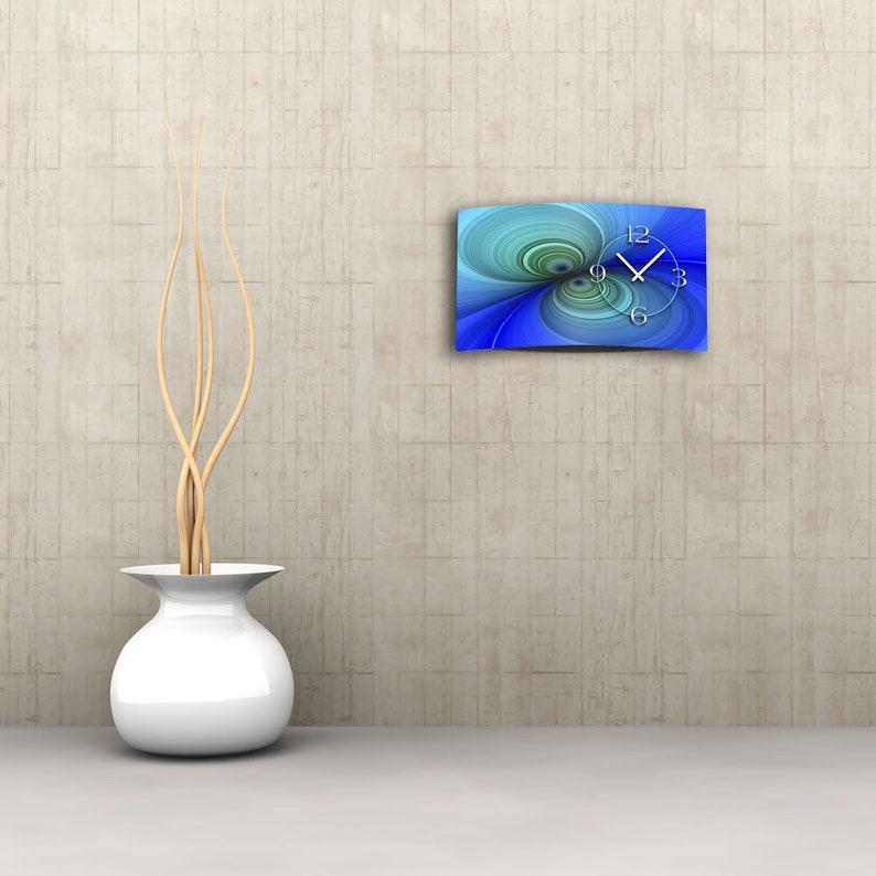 Digital Designer Art psycodelic bleu Designer Wall Clock Modern Wall Clocks Design Quiet No Ticking DIXTIME 3D-0359