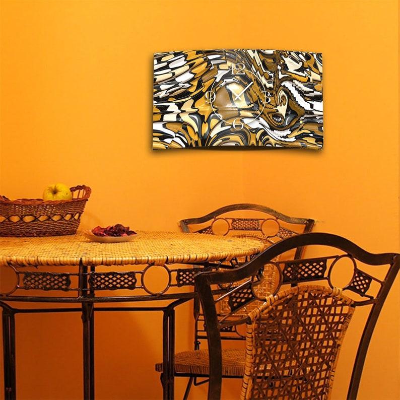 Abstrait serpent designer mur horloge murale moderne horloges murales conception calme pas tic-tac dixtime 3D-0240