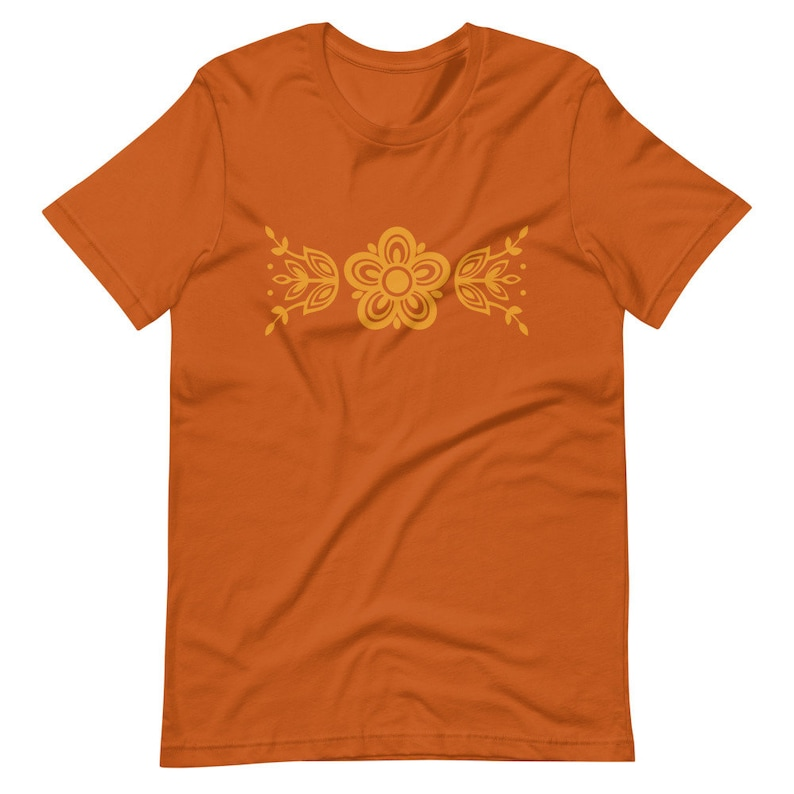 Vintage Inspired Clothing Pyrex T-shirt Butterfly Gold Retro 1970s Flower Short-Sleeve Unisex T-Shirt