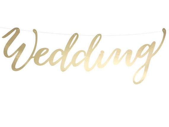 "Girlande ""Wedding"" gold"