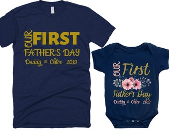 fa2fadc9f PERSONALIZED DAD And DAUGHTER Shirts -Matching Daddy Daughter Tshirt  -Infant Bodysuit Dad Daughter Shirts- First Father's Day Custom shirts