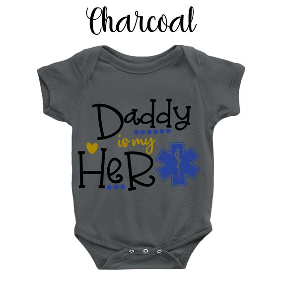 Custom Toddler T-Shirt My Daddy is A Paramedic EMT Dad Fathers Day Cotton