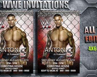 Wwe birthday invitations etsy wwe birthday wwe invitations wwe card wwe birthday card wrestling party wwe printable wrestling invitations filmwisefo