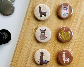 Set - Party Lamas 4 - Magnet / Button