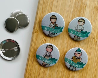 Set - Babyshower Boys - Magnet / Button