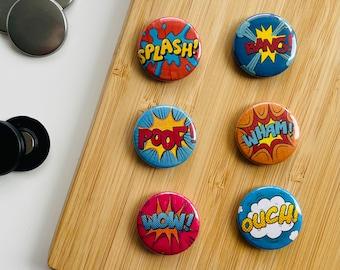Set - Comic Words 3 - Magnet / Button