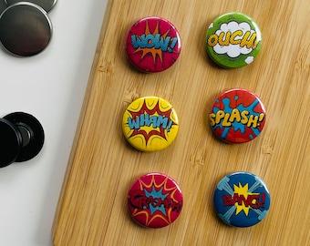 Set - Comic Words 1 - Magnet / Button