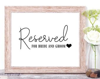 bride reserved sign etsy