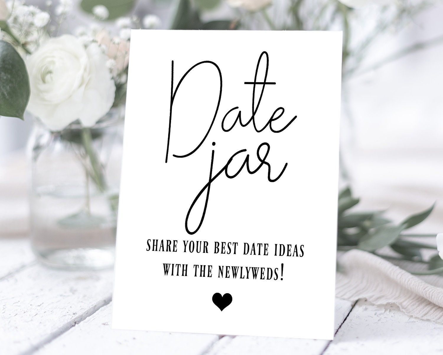 5x7 and 8x10 Shower and Wedding Table Signs Printable Eat Drink Dance Decor with a Simple Black Theme for Receptions and Partys