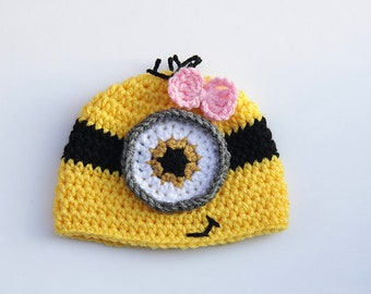 Girl Minion Hat Etsy