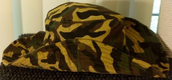 8fa08aab3fa Bucket Boonie Hat Side Snap Hat Outdoor UV Sun Protection