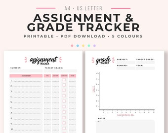assignment planner etsy