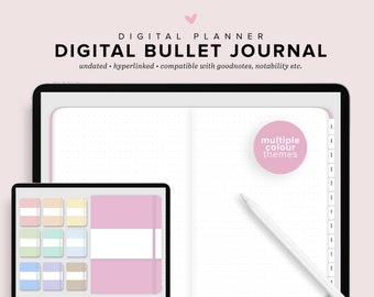 DIGITAL Bullet Journal, Empty Bullet Journal, iPad Bullet Journal, Digital Journal, Digital Planner, iPad Planner, Goodnotes Planner