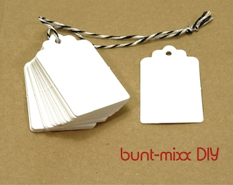 Gift tag white From 2.90 Euro guest gift wedding, pendant kraft paper, 25/100 piece quantity selection, pack gifts