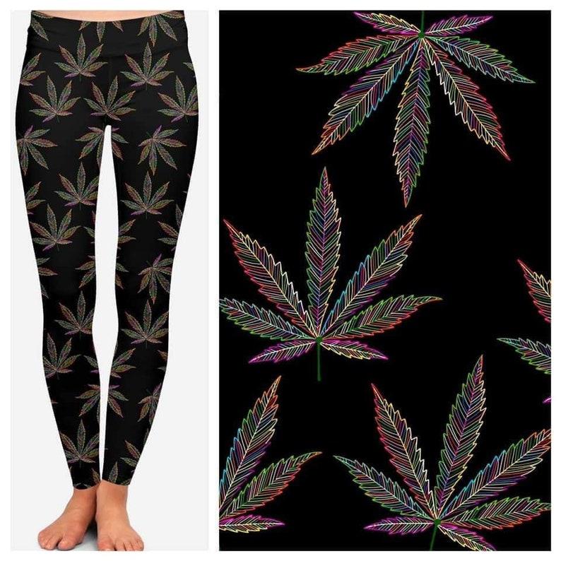 420 Mary Jane Custom Leggings in Adults Yoga Waistband