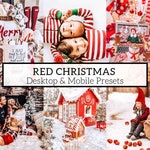 5 PRO Red Christmas Mobile/Desktop Lightroom Presets - Great For Portrait, Family, Children, Christmas, Instagram, Bloggers And More