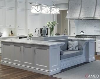 Modern kitchen island   Etsy