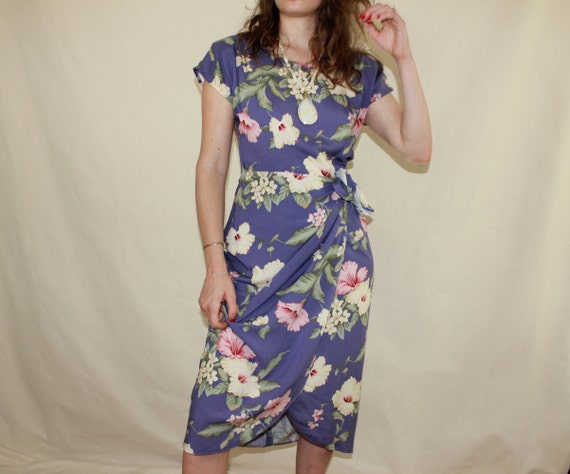 Lavender Hawaiian Tie Dress
