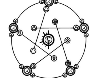 Mas Colores Alkahestry Reverse Transmutation Circle