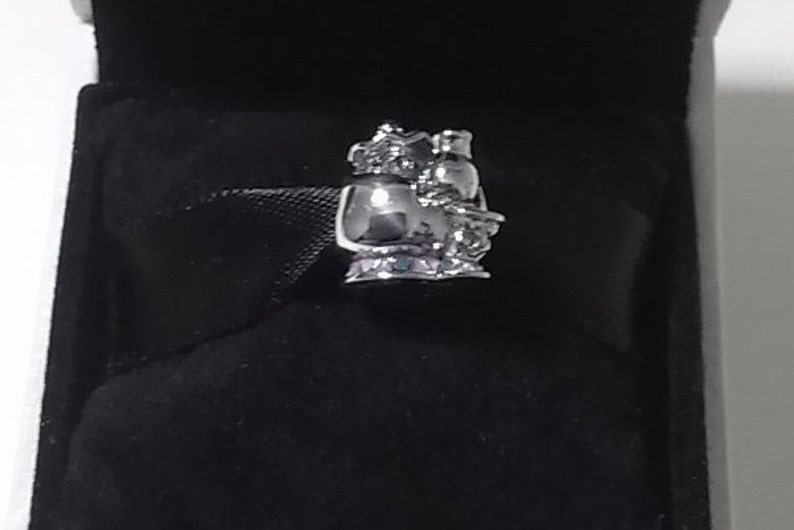 Potts /& Chip Charm Sterling Silver Authentic 925 Disney Mrs