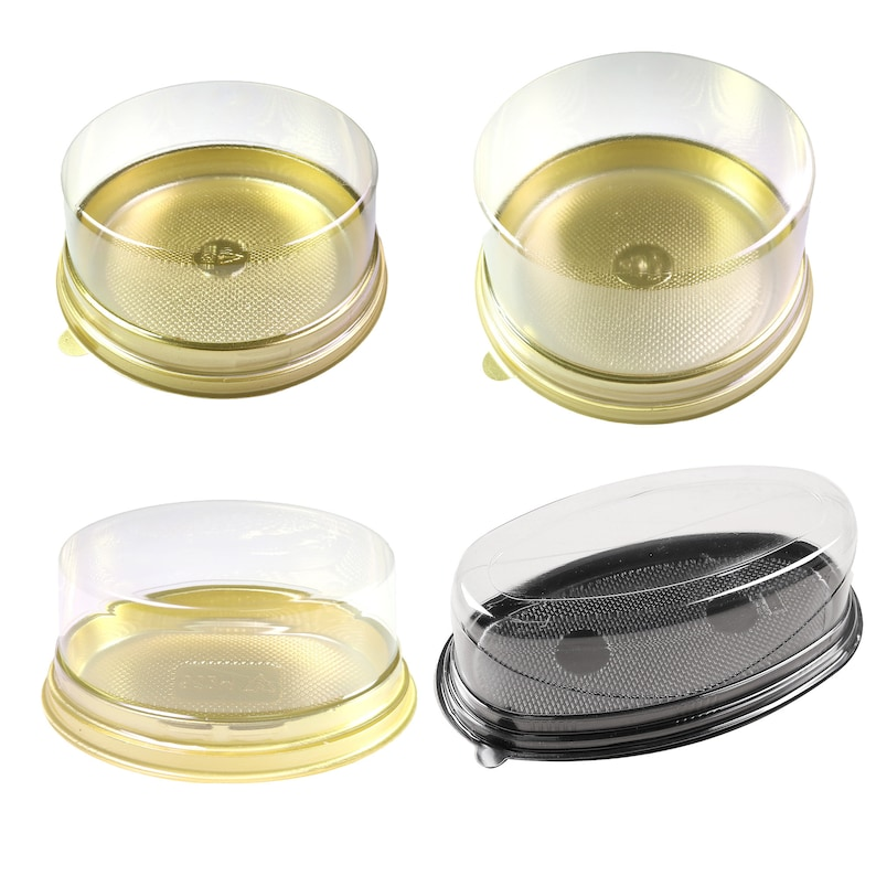 50/100/Sample Color Base Clear BPA-Free Plastic Dome Various Shape  Containers