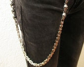 Trouser necklace, key chain, purse chain and skulls made of stainless steel in Germany