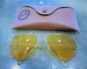 6f53c59799 Rare Vintage Ray-Ban B L Bausch and Lomb Outdoorsman Ambermatic Shooter    Aviator   Driver Sunglasses in Great Condition!